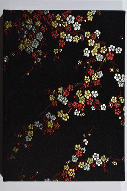 Notebook <br>silky black cherry blossoms