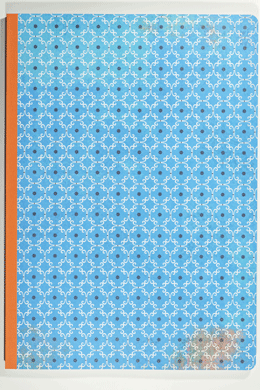 Notebook<br>tiled blue